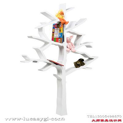 创意设计师家具玻璃钢树枝树书架 玻璃钢落地置物架 饰物架