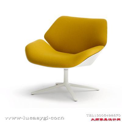 创意设计师家具  玻璃钢或弯板矮背休闲沙发躺椅 休闲椅 五金脚