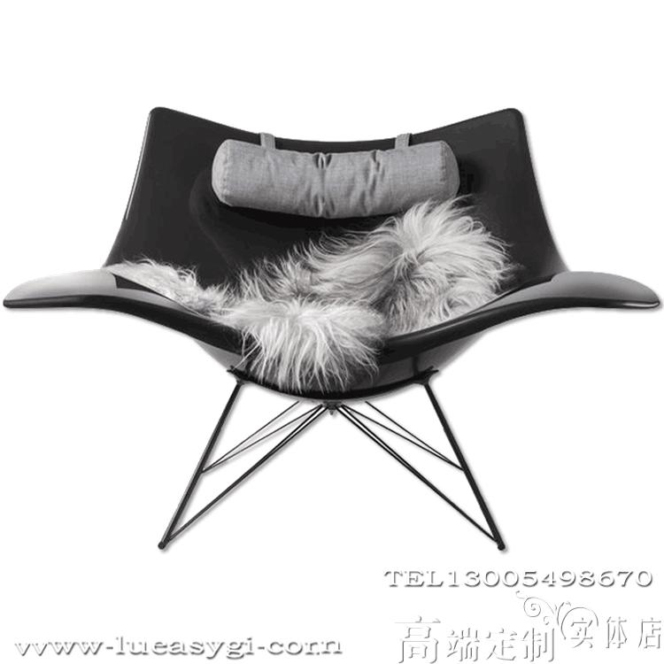 创意设计师家具 鱼椅摇摆椅 休闲椅躺椅 午睡椅 海洋馆 体育游泳池馆家具 半圆锅椅伞椅