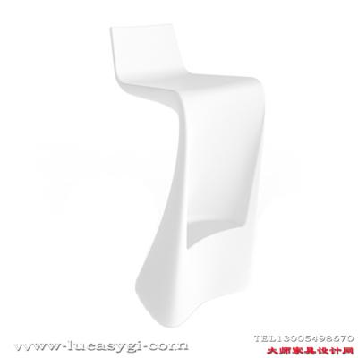 北欧品牌 创意设计师家具 吧凳 玻璃钢烤漆酒吧前台吧椅 高脚酒吧酒店椅