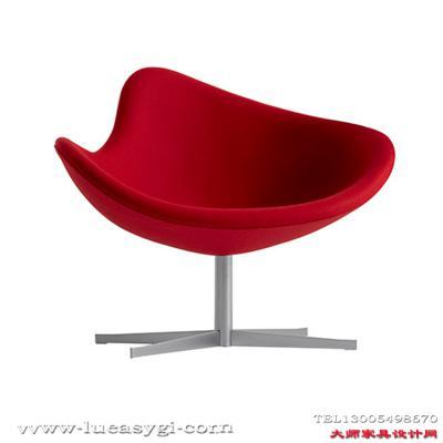 创意设计师家具旋转椅 酒店咖啡厅矮背休闲椅 玻璃钢不锈钢脚电脑餐椅