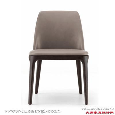 北欧实木 经典设计师家具餐椅 酒店餐厅会所咖啡酒吧椅子 面料规格颜色可定制 高端家具