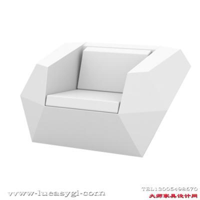 简结大方美观家具 单座玻璃钢户外菱形沙发 单人沙发双人沙发三人 休闲椅温顿仿水