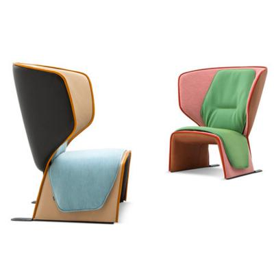 颜色面料可定制 北欧设计师创意休闲椅北欧高背休闲椅 爱情椅