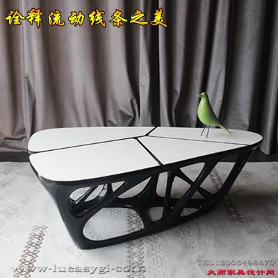 现货 创意设计师家具 小户型客厅玻璃钢茶几边机 大小款颜色可定制