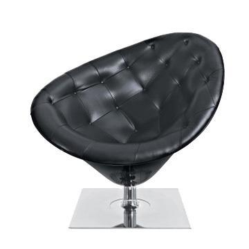 意大利Driade Moore Chair 莫尔 皮革休闲椅 沙发椅 不锈钢脚定制椅