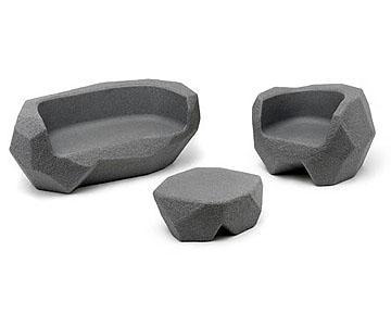 意大利玻璃钢家具 石头家族 儿童长椅 矮桌 定制家具 商场家用户外公共