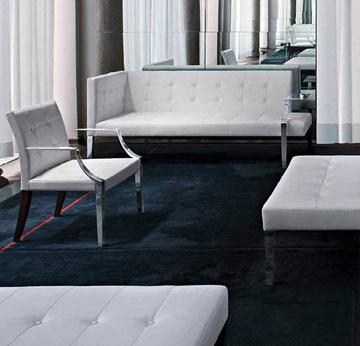 意大利银爵 沙发 尊贵 休闲椅凳 五金拉扣家具 个性设计最美家具设计网