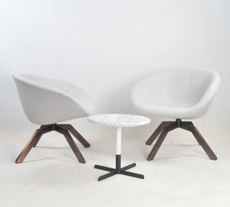 北欧简约经典设计桌子 实木五金大理石边几 电镀烤漆家具