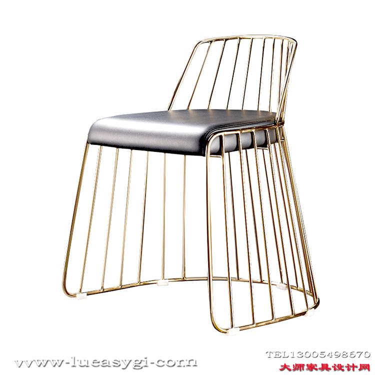 不锈钢电镀 颜色可定制化妆椅 美容椅 餐椅 吧椅 酒店会所 休闲椅