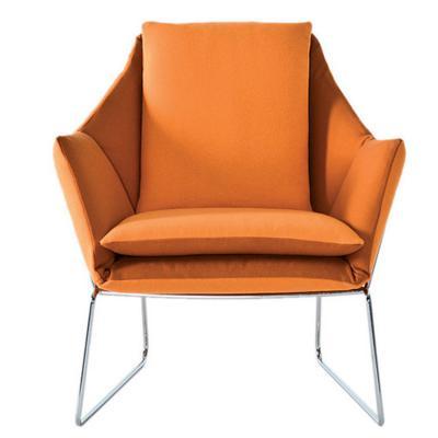 布艺金属休闲单人沙发椅创意北欧经典设计师家具 五金烤漆电镀家具