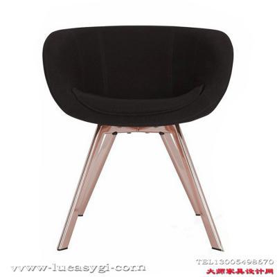 设计师电脑椅咖啡椅书房椅 地产样品房 家用商用家具 北欧现代简约低背餐椅