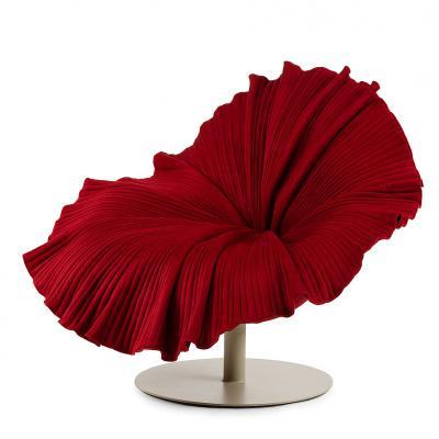 独家现货玻璃钢花朵椅花瓣椅 俱乐部休闲创意时尚椅 半圆形 布艺装饰椅