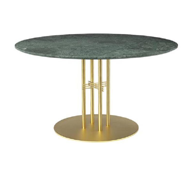 居家豪华 经典耐看百搭 北欧宜家极简现代风格五金电镀大理石餐桌洽谈桌