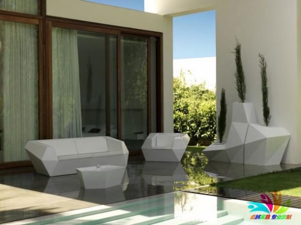 玻璃钢单双人沙发椅户外菱形沙发  酒店温泉茶几温顿高端商务区家用商用