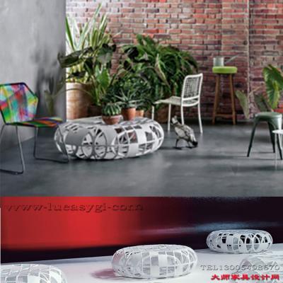 玻璃钢复古创意边几 镂空灵动视觉茶几 鸡笼茶几 桌子 简结家具