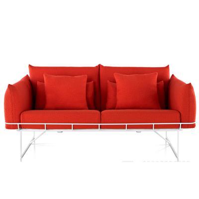 北欧现代布艺两座沙发 休闲大小户型沙发 皮质家具定制