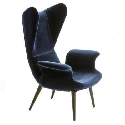 意大利创意个性样板房休闲椅 北欧简约高背扶手长波椅 异形玻璃钢休闲椅