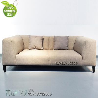 北欧麻布家具 三人四人沙发 规格面料可定制 灰色咖啡色  家居豪宅家用商用家具定制