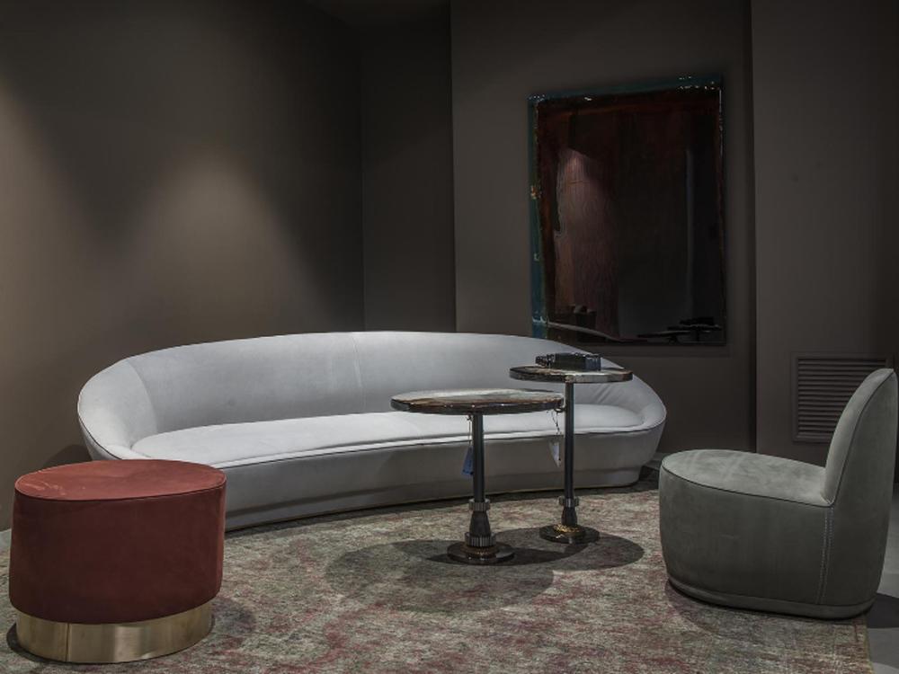 Janette sofa 沙发意大利品牌 Baxter  JANETTE SOFA  圆形半月形 会议洽谈商务家具