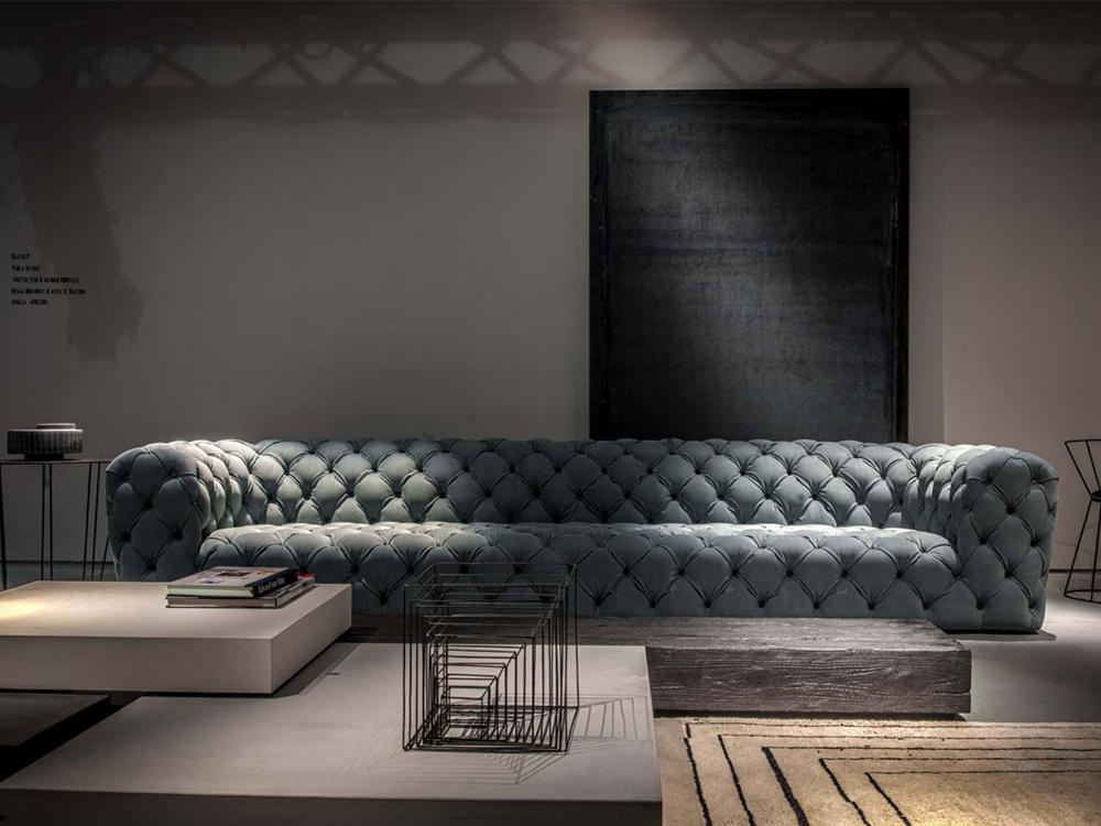 意大利家具 单人双人三人位沙发 拉扣 欧式现代古典 布艺皮革真皮沙发