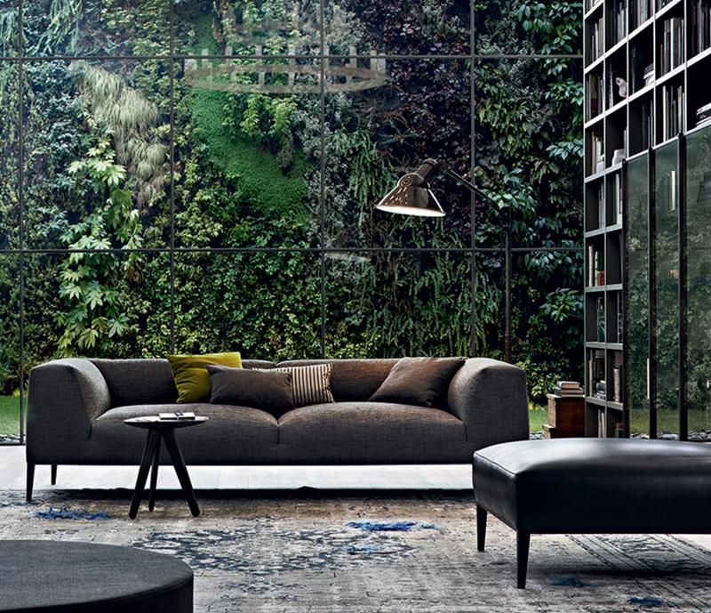 北欧意大利设计师 沙发 木脚架五金脚架多人沙发 吉恩·马利·马索品牌家具