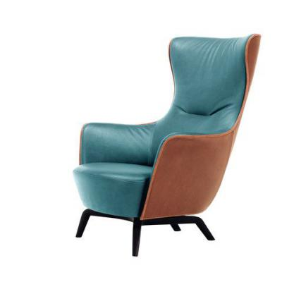 皮革双色布艺真皮休闲椅 欧式美式高端椅子 电视电影广告道具出租