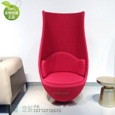 意大利设计 高酒杯郁金香扶手椅煤油灯玻璃罩 玻璃钢内架高端时尚咖啡酒店家具