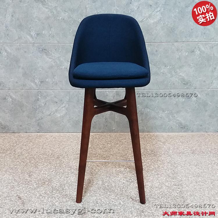 实物拍照 stool 玻璃钢内架+实木高脚 酒吧椅吧凳 会所咖啡店椅