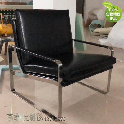实物黑色 不锈钢电镀无指纹亮光 钢 单人位沙发椅 规格可定制颜色可定制 圆角边处理
