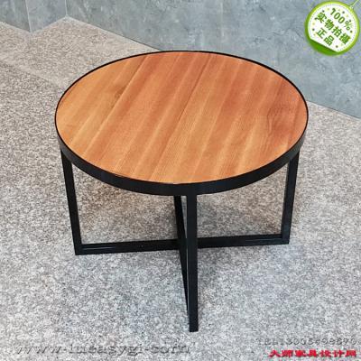 铁五金烤漆电镀金黑色实木盘茶几 正圆 半椭圆 规格颜色定制边几