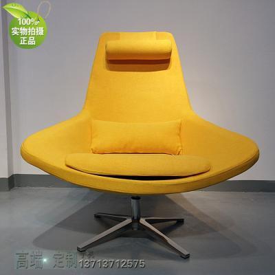 西皮布艺北欧设计师家具 Armchair鸟椅布艺 休闲椅旋转沙发椅鸟语花香酒店