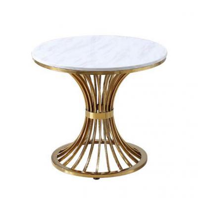 电镀 现代迷你小茶几简约圆形大理石边几北欧移动角几不锈钢小圆桌