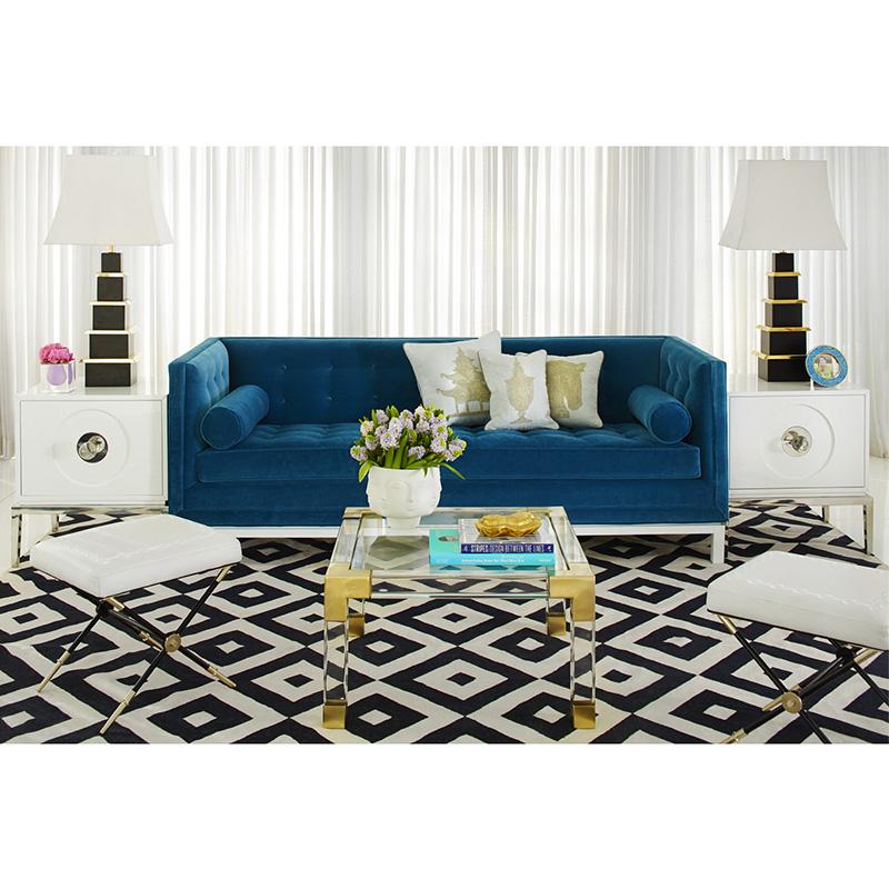 北欧大师设计 现代简约设计师风格小户型棉麻工业风酒吧沙发Lampert Sofa 可定制