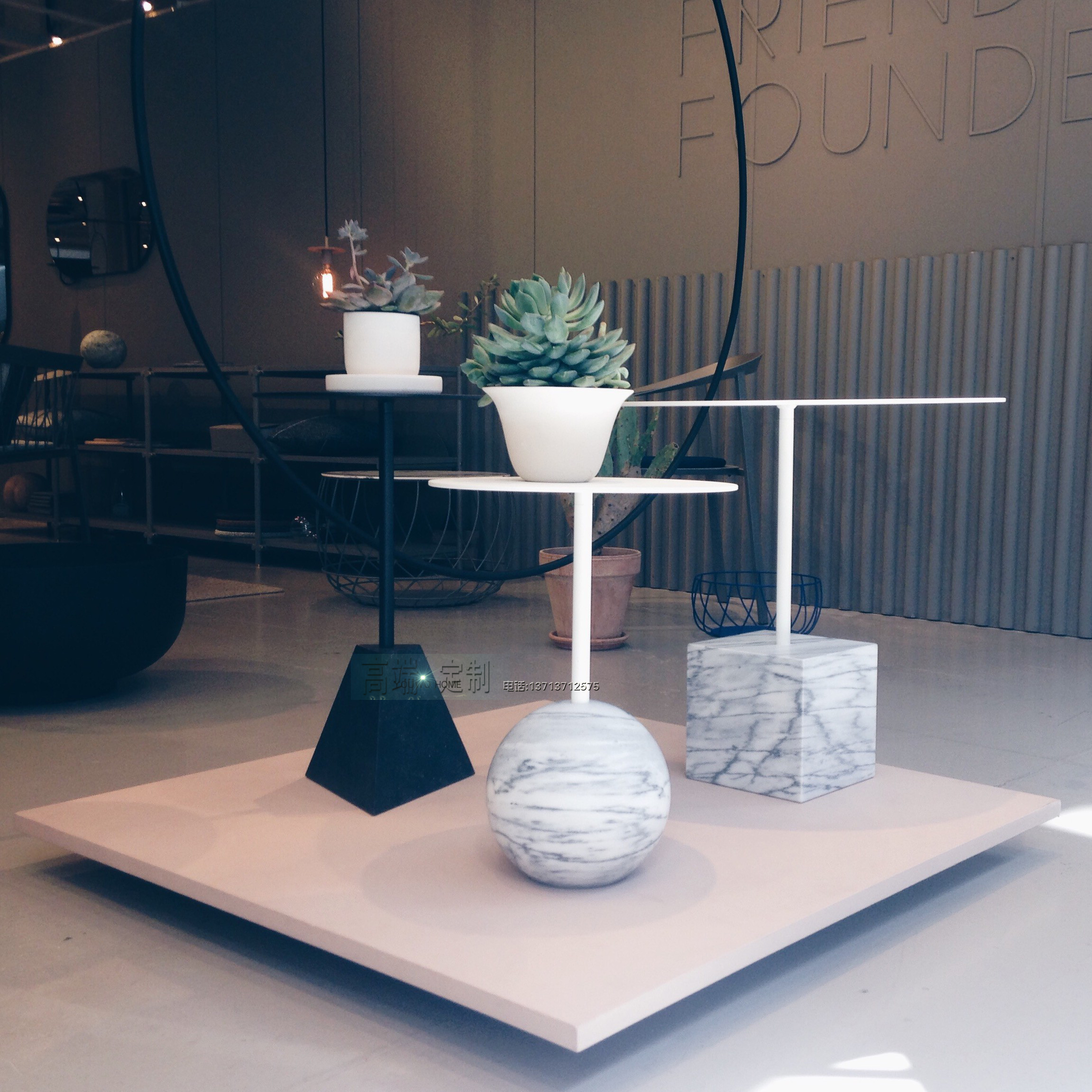 Table 时尚大理石茶几 北欧大师设计家具 室内设计 铁烤漆 不锈钢电镀 大理石规格可定制