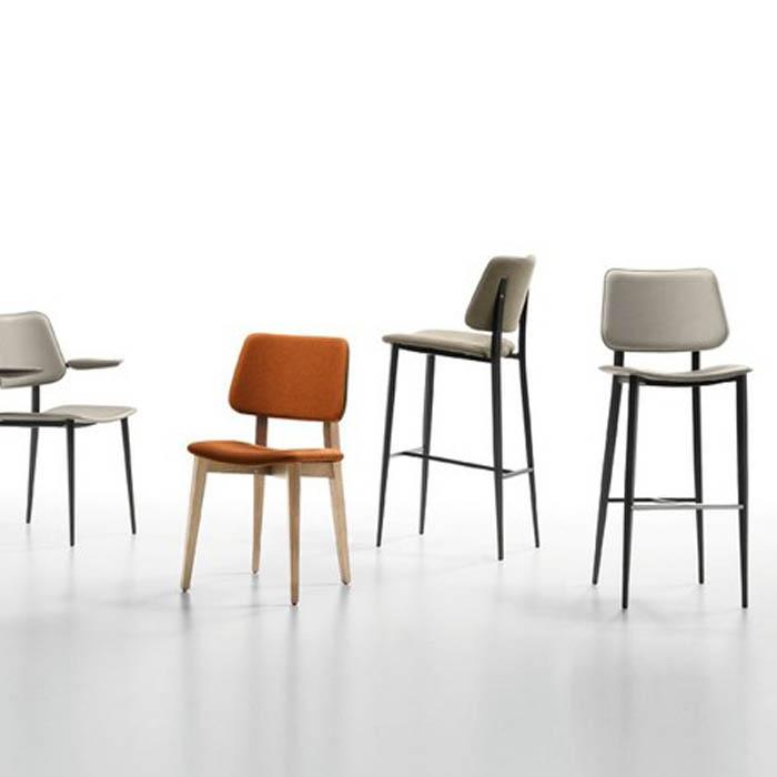 国际设计师高脚吧椅 异形脚方脚圆脚 High chair Joe bar stool by Midj 酒店会所酒吧家具