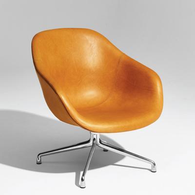 丹麦HAY转椅AAL81低背休闲转椅皮质转椅皮面布面办公椅休闲椅