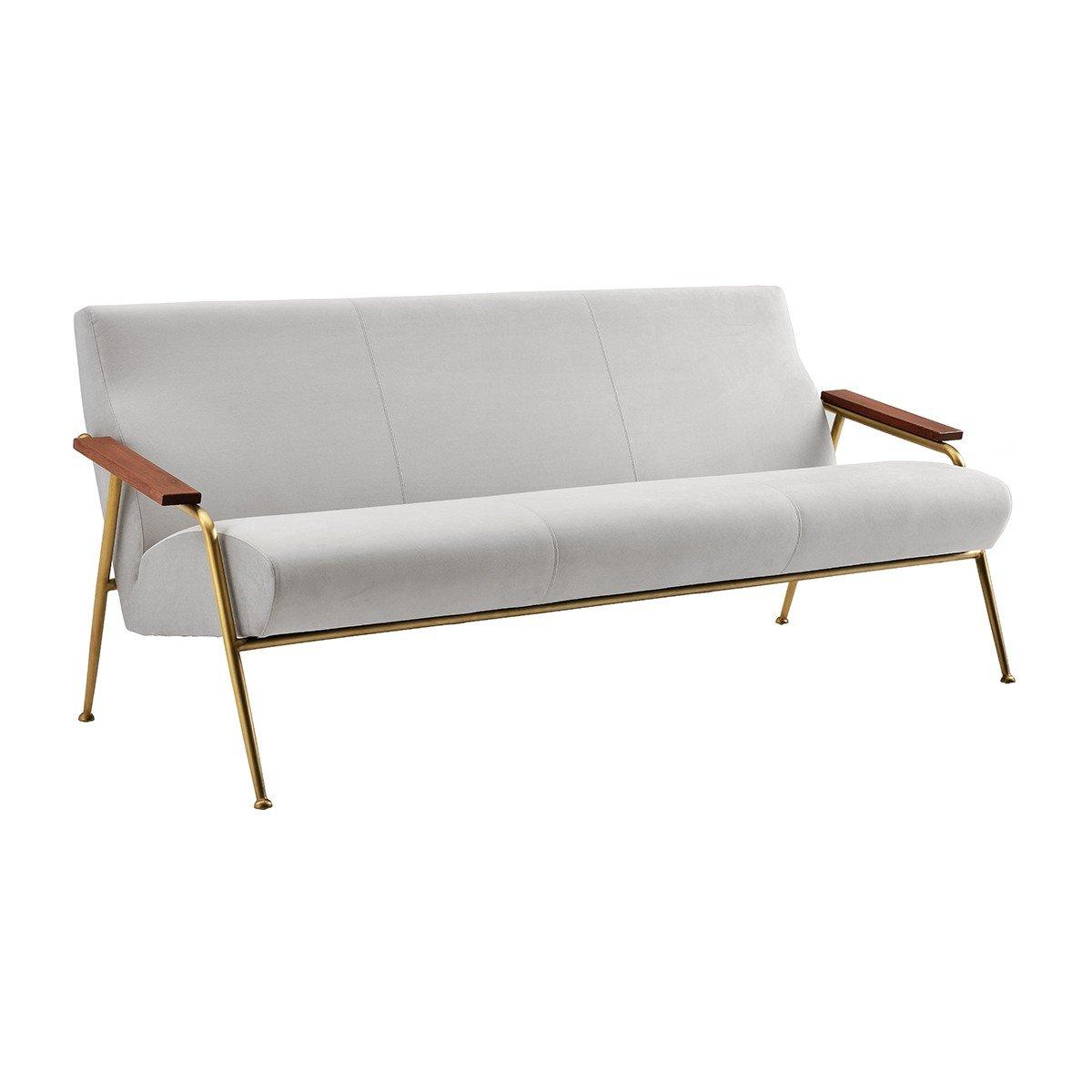 简洁大方简单直观 亮白不锈钢香槟金 London 3 Sofa 设计师家居售楼处样板房新款创意五金软包沙发
