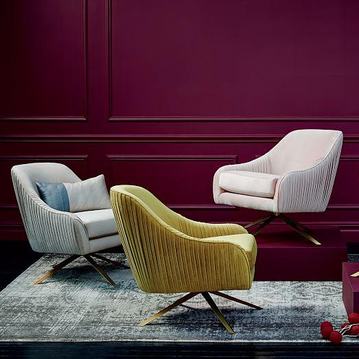 设计师样板房家居新款休闲椅 West Elm Roar Rabbit Swivel Chair