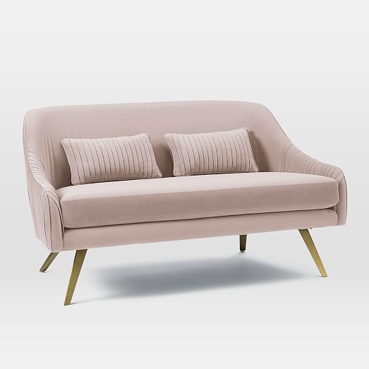 双人位简洁不锈钢沙发 West Elm Roar Rabbit Swivel SOFA 设计师工程项目接待休闲沙发