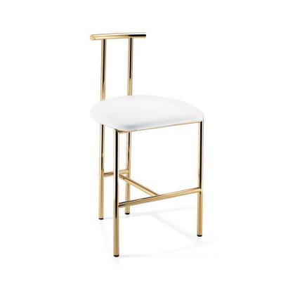 国际大师设计家具网 Dwba vanity bar stool  不锈钢电镀高脚酒吧椅 前台 酒店餐厅椅