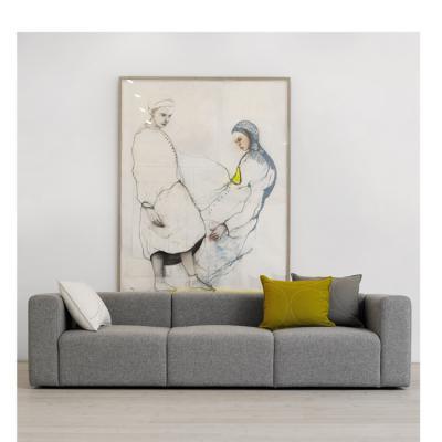 HAY Mags 3 Seater布艺沙发三人座舒适北欧简约设计客厅沙发