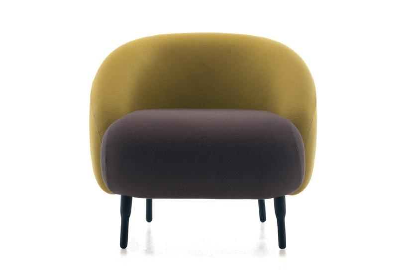 布艺休闲椅bump sofa设计师 家居样板房北欧 接待创意接待定制单人沙发