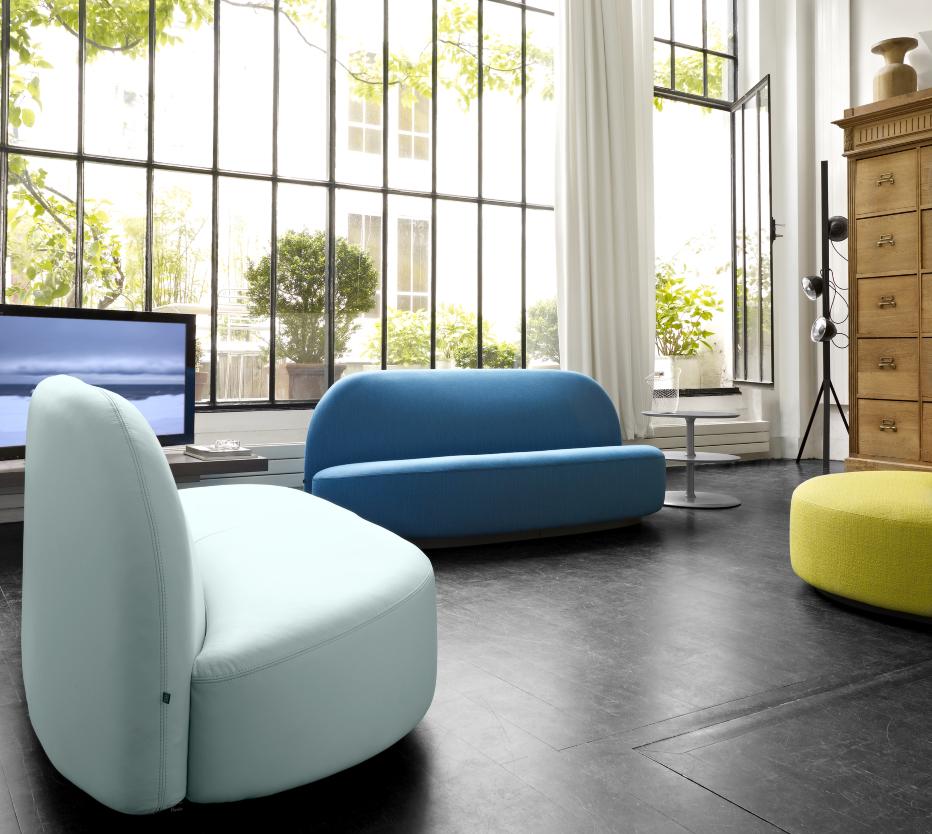 圆形椭圆沙发 半圆单人位双人位 LIGNE ROSET写意空间 ELYSEE沙发   意大利家具