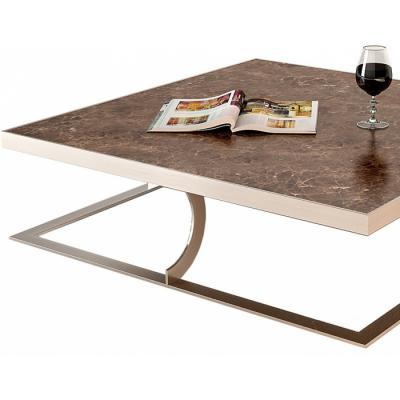 设计师KTV豪华酒店创意接待茶几 Paul Baxter Coffee Table 不锈钢电镀 大理石打蜡抛光处理