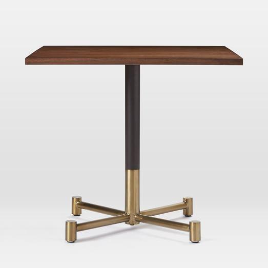 White Marble Rectangular Bistro Table实木 白色大理石矩形小餐桌 边几共几角几