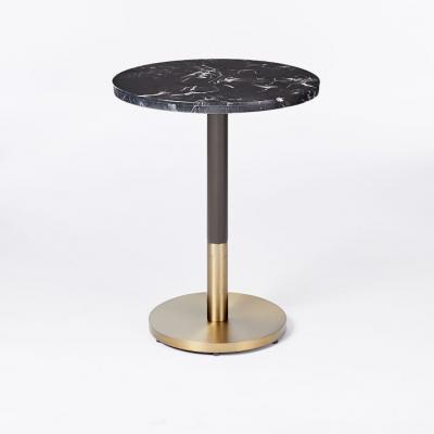 黑色大理石圆小酒馆桌子大小茶几边几角几 Black Marble Round Bistro Table - Small Large