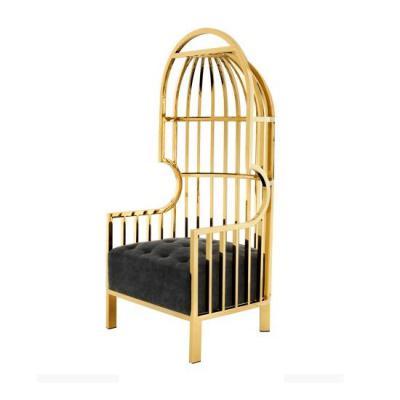 实物土耳其NEST Leisure CHAIR 独特优雅高背不锈钢鸟笼巢NEST CHAIR座椅意大利Autoban