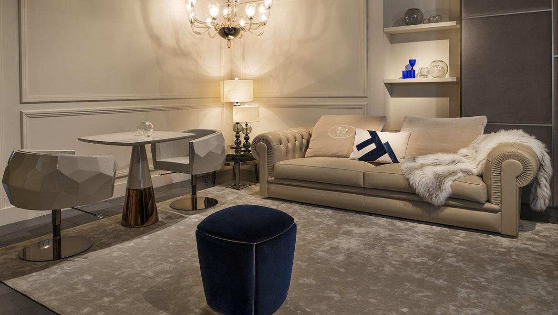 Fendi  ALBIONE Sofa 沙发 拉扣欧式法国意大利 复古 布艺皮革真皮沙发