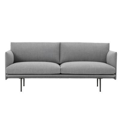 丹麦设计师网红双人沙发 三人位简约现代办公室沙发 接待会客沙发商务休闲沙发